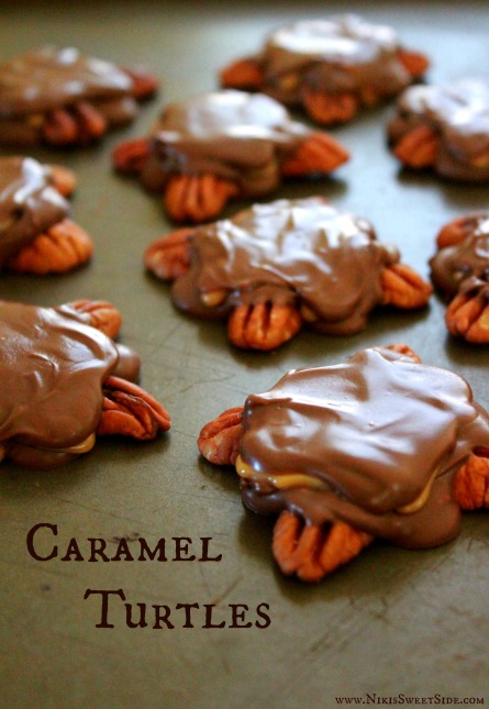 Easy Caramel Turtles