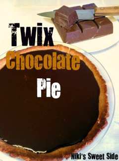 Twix Chocolate Pie by Niki's Sweet Side