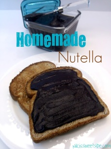 Homemade Nutella by Niki's Sweet Side