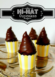 Dark Chocolate Hi Hat Cupcakes by Niki's Sweet Side