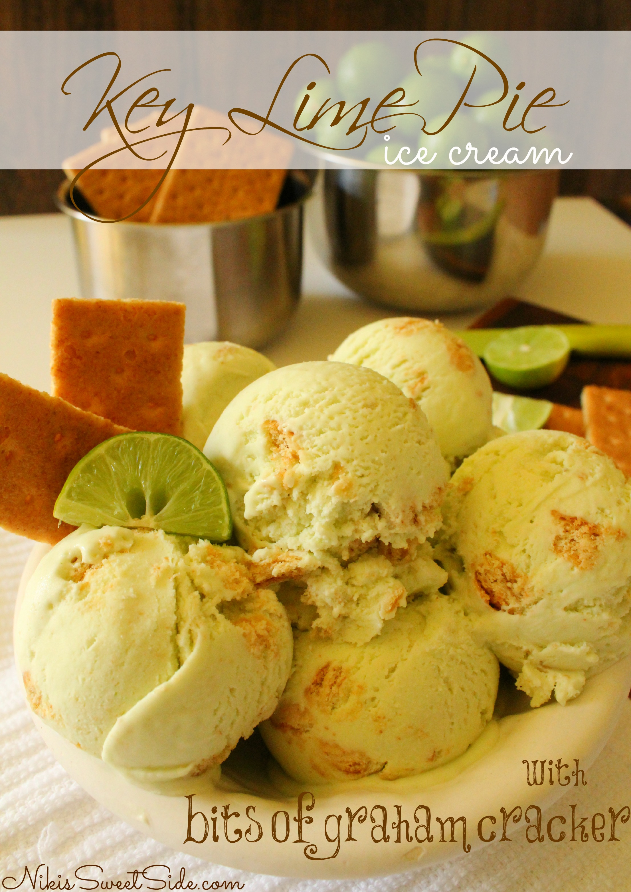 wow you guys just wow this creamy key lime pie ice cream with graham ...