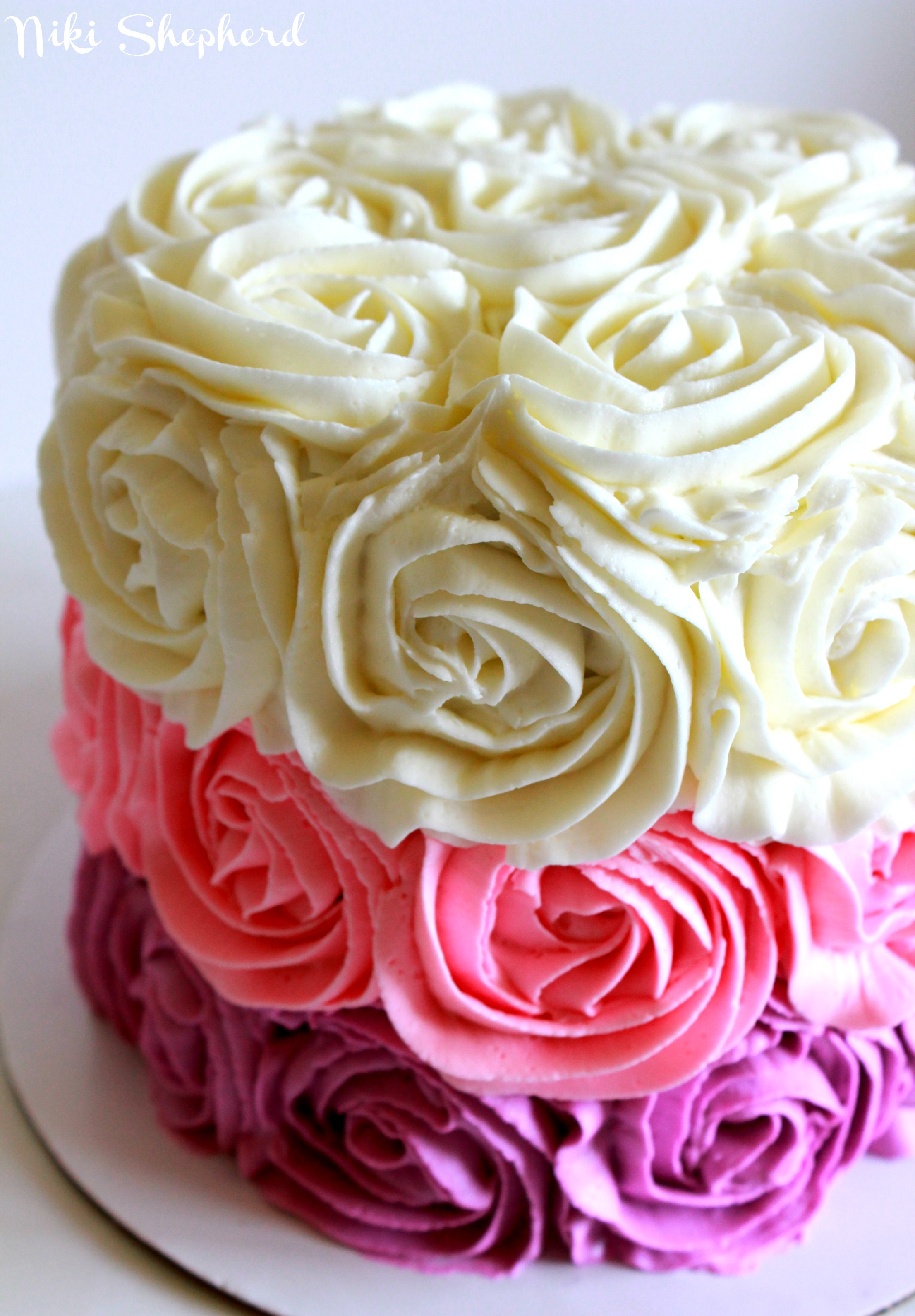 Cake Images Rose : Rose Cake Tutorial I Am Baker Auto Design Tech