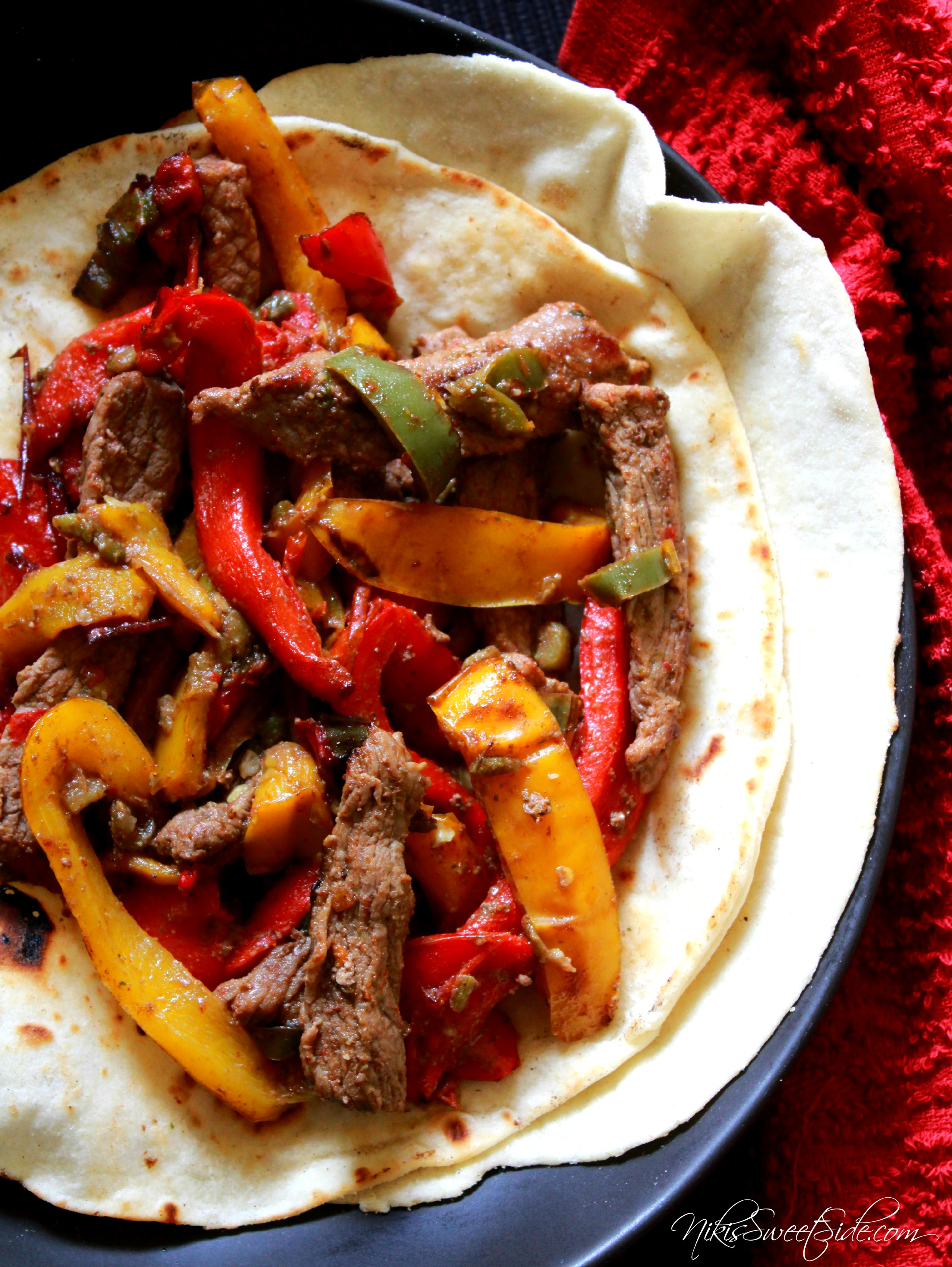 Easy Steak Fajitas | Niki's Sweet Side