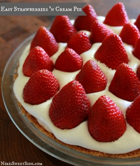 Easy Strawberries n' Cream Pie by Niki's Sweet Side