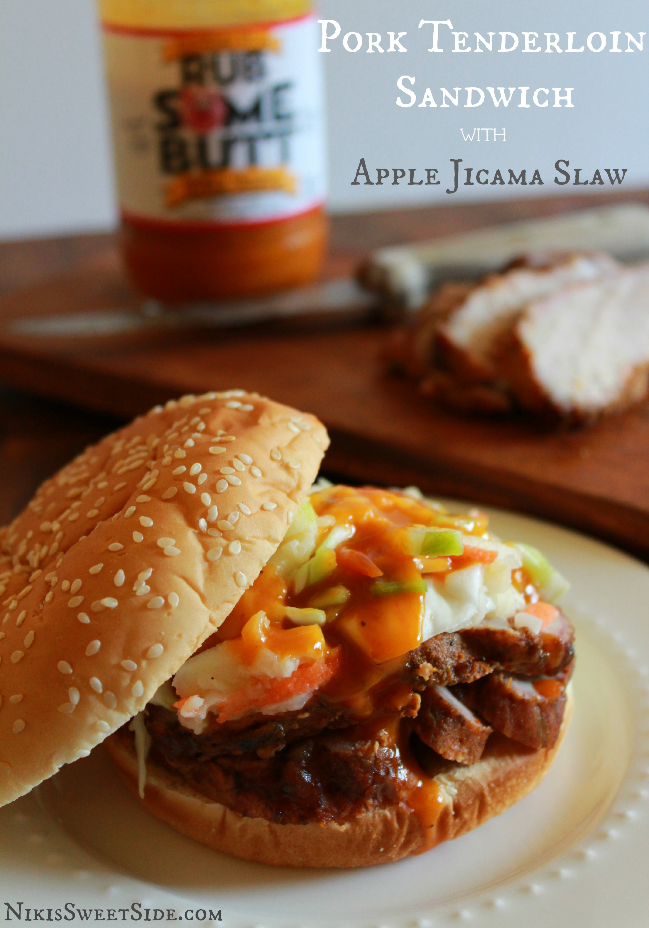 Pork Tenderloin Sandwiches with Apple Jicama Slaw