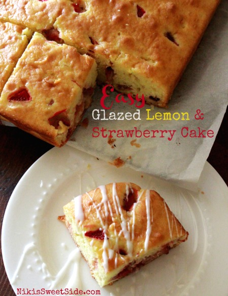 Glazed Lemon Strawberry Cake