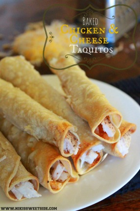 Baked Chicken & Cheese Taquitos by Niki's Sweet Side