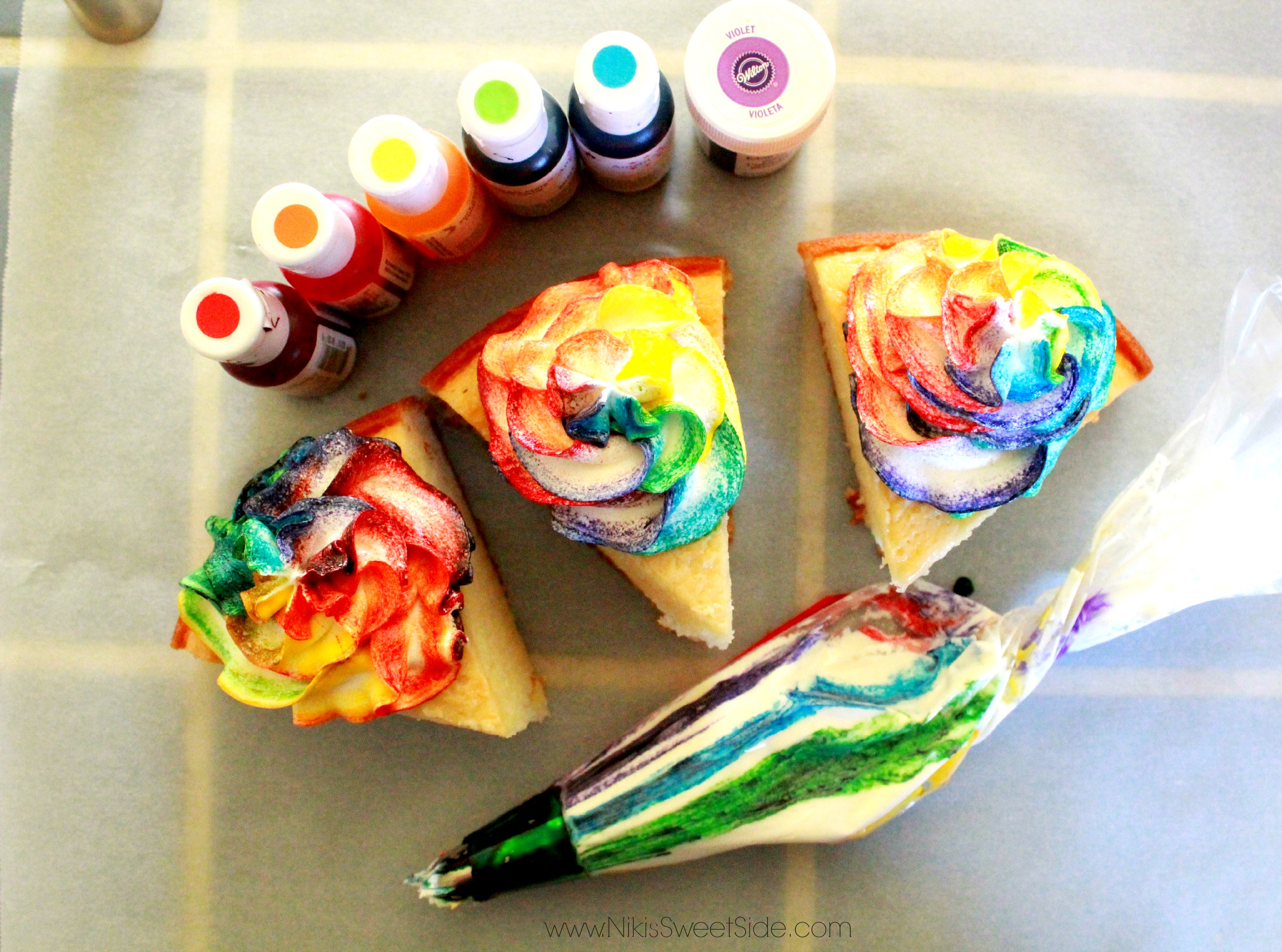 How To Make Rainbow Cupcakes Niki S Sweet Side