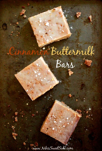 Cinnamon Buttermilk Bars