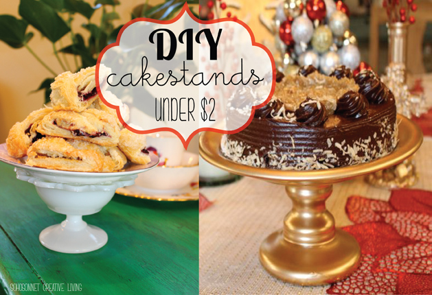 DIY Cake Stand by SohoSonnet