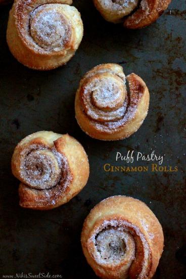 Puff Pastry Cinnamon Rolls