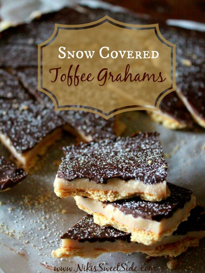 Snow Covered Toffee Grahams